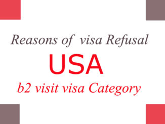 US b2 visa Reasons of visa refusal