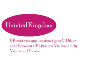 UK visit visa applications types