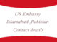 US Embassy Islamabad ,Pakistan Contact details