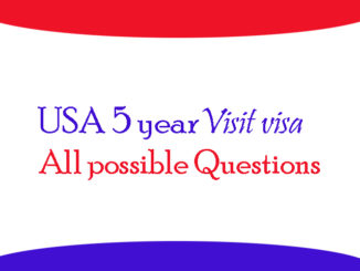 USA visa questions