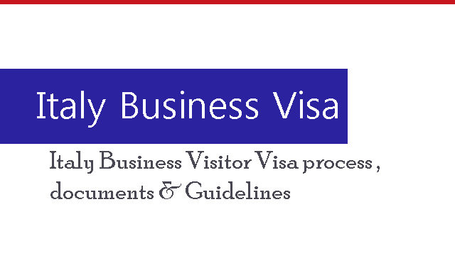 Italy Business Visa