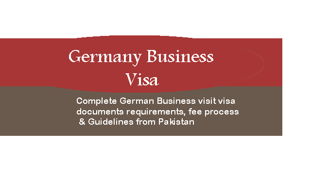 Germany Business visa from Pakistan