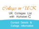 UK colleges list with C