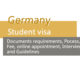 Germany Student visa from Pakistan
